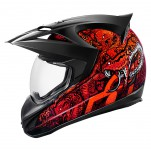 Casque intégral ICON Variant Cottonmouth Rouge