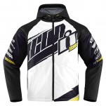 Blouson moto ICON Team Merc Blanc