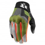 Gants moto Icon Anthem Deployed Touchscreen Vert