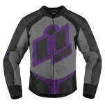 Blouson moto Femme ICON Overlord Violet