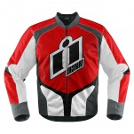 Blouson moto Homme ICON Overlord Rouge