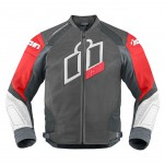 Blouson moto cuir Homme ICON Hypersport Prime Rouge