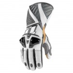 Gants moto Icon Hypersport Pro Long Blanc