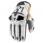 Gants moto Icon Hypersport Pro Short Blanc