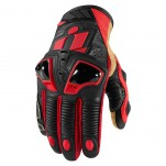 Gants moto Icon Hypersport Pro Short Rouge
