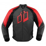 Blouson moto cuir Homme ICON Hypersport Rouge