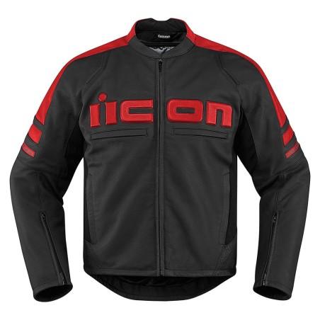 Blouson moto cuir Homme ICON Motorhead 2 Rouge