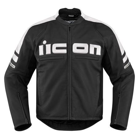 Blouson moto cuir Homme ICON Motorhead 2 Blanc