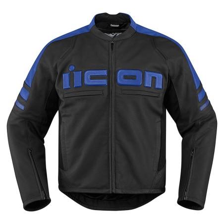 Blouson moto cuir Homme ICON Motorhead 2 Bleu