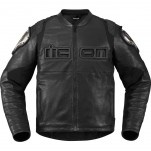 Blouson moto cuir Homme ICON Timax