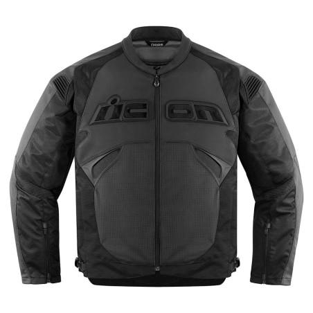 Blouson moto cuir Homme ICON Sanctuary Noir