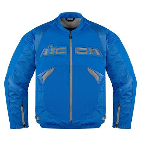 Blouson moto cuir Homme ICON Sanctuary Bleu