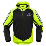 Blouson moto ICON Raiden UX Waterproof Jaune