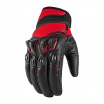 Gants moto Icon Konflict Rouge