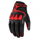 Gants moto Icon Overlord Resistance Rouge