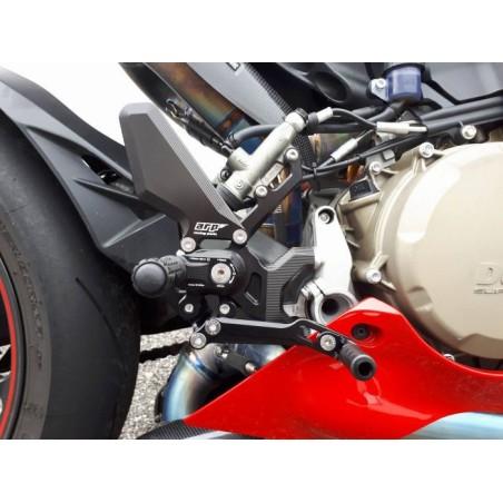 Commandes reculées moto ARP pour Ducati 899 et 1299 Panigale