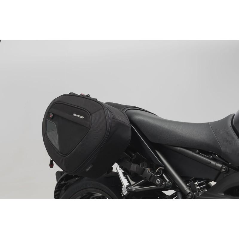 Sacoches latérales BLAZE version haute Noir/Gris SW-Motech pour Yamaha MT09 2017 et +