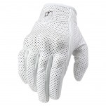 Gants moto Femme Icon Pursuit Perforés Blanc