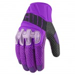 Gants moto Femme Icon Overlord Mesh Violet