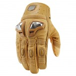 Gants moto Icon Retrograde Marron