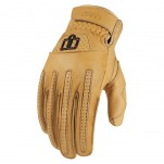 Gants moto Icon Rimfire Marron