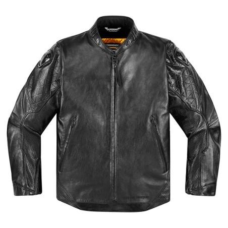 Blouson moto cuir Homme ICON Retrograde
