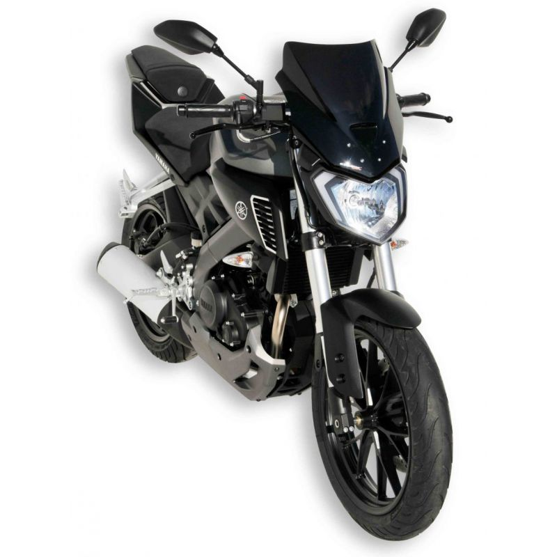 saute vent d flecteur 36cm ermax pour yamaha mt125 2014 et tech2roo. Black Bedroom Furniture Sets. Home Design Ideas
