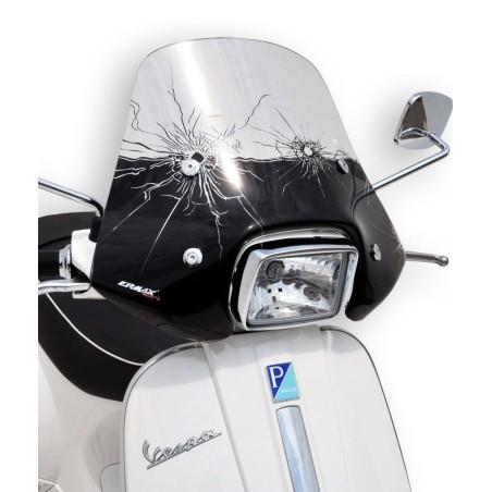 Pare-Brise scooter Ermax Mini Sportivo 40cm pour Vespa 50 et 125 S 2010 et +