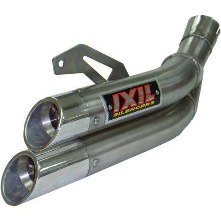 Echappement IXIL DUAL HYPERLOW INOX pour SUZUKI SV 650 16-18