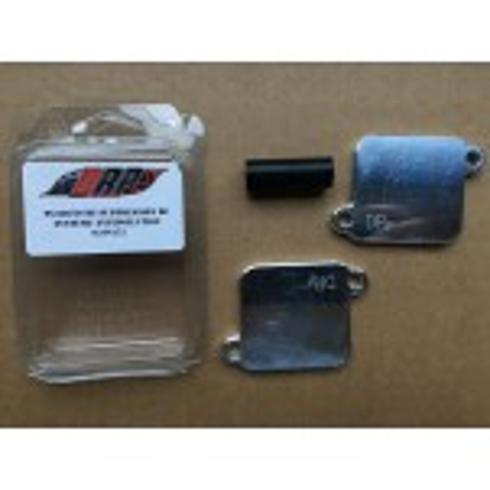 Kit plaques suppression système anti-pollution pour Suzuki GSXR 1000 2001-2008
