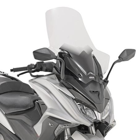 Bulle pare-brise Haute protection GIVI D6110ST incolore pour scooter KYMCO AK 550 2017 et +