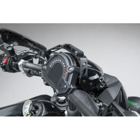 Support GPS pour cockpit Noir. Kawasaki Z650 (16-).