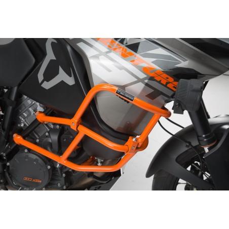 Crashbar superieur pour crashbar d'origine KTM Orange. 1290 SAdv R / S (16-), 1090 Adv (16-)