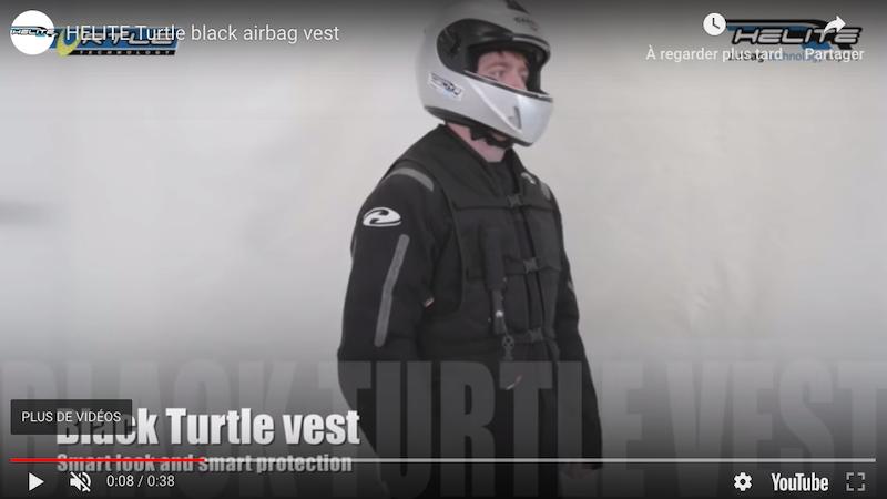Vidéo de présentation de l'airbag moto Turtle de Hélite