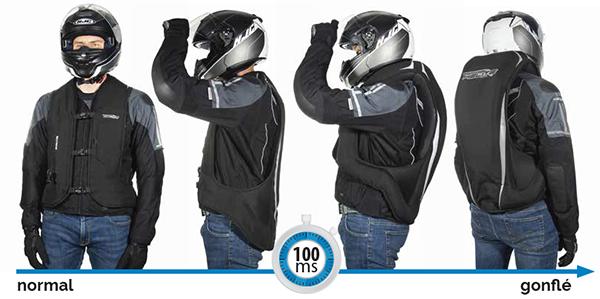 Durée de gonflage du gilet airbag moto Turtle 2